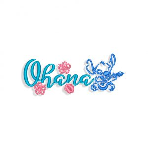 Lilo & Stitch Ohana Embroidery design