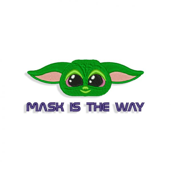 Mask Is The Way, Baby Yoda Embroidery design