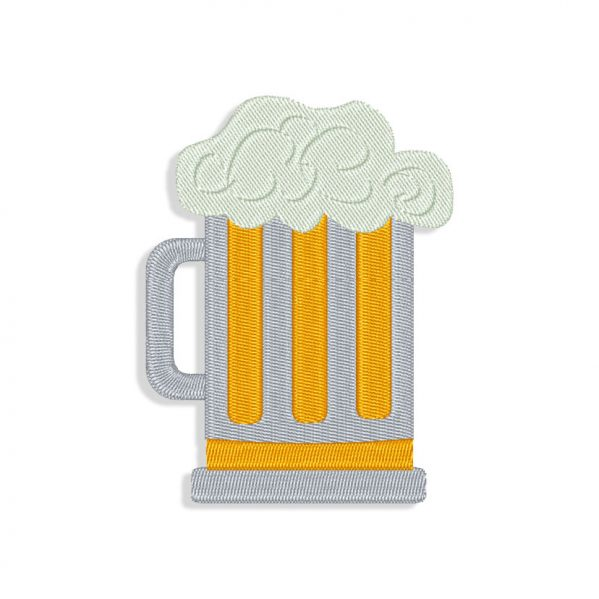 Beer Embroidery design