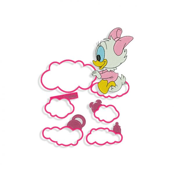 Baby Daisy Duck Birth Announcement Embroidery design