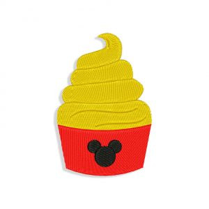 Mickey Cupcake Embroidery design