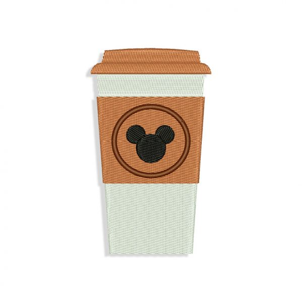 Mickey Mouse Coffee Embroidery design