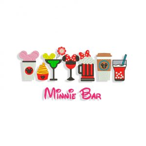 Minnie Bar Embroidery design
