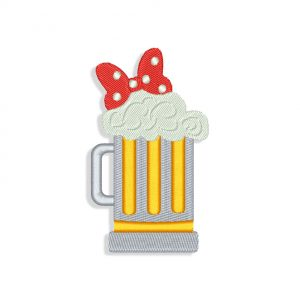 Mickey Mouse Beer Embroidery design