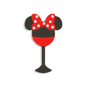 Minnie Mouse Wine Embroidery design