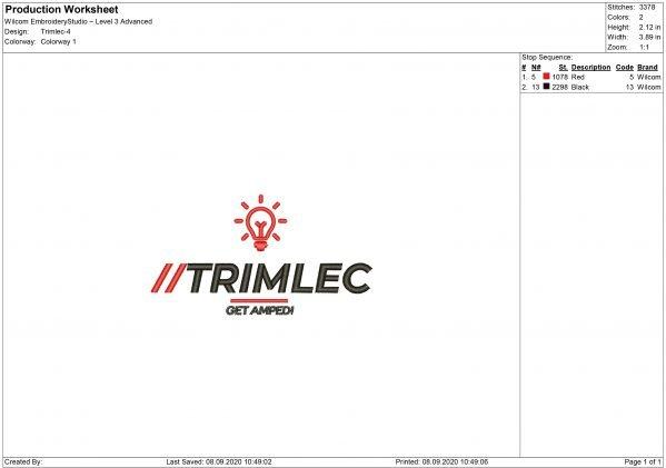 Trimlec Embroidery design