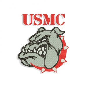 USMC Bulldog Embroidery design