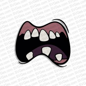 Zombie Mouth SVG files