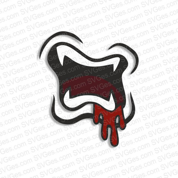 Zombie Mouth SVG