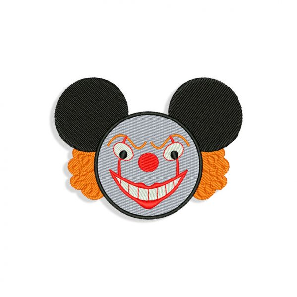 Mickey Mouse Clown Embroidery design