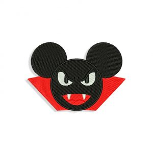 Mickey Mouse Dracula Embroidery design