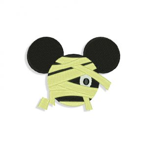 Mickey Mouse Mummy Embroidery design