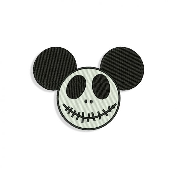 Mickey Mouse Skellington Embroidery design
