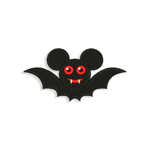 Mickey Mouse Bat Embroidery design
