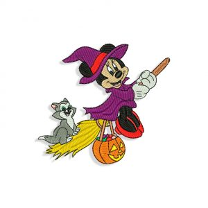 Minnie Mouse Witch Embroidery design