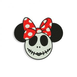 Minnie Mouse Skellington Embroidery design