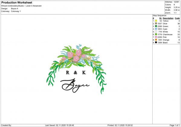 R&K Embroidery design