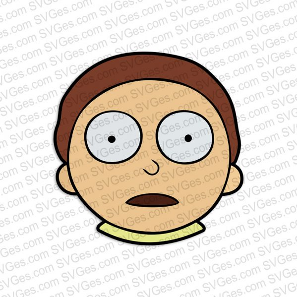 Rick and Morty, Morty face SVG files
