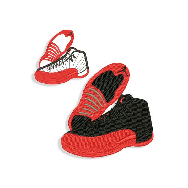 Sneakers Embroidery design