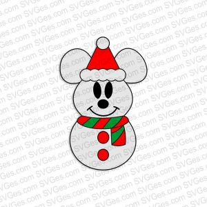 Mickey Snowman SVG files