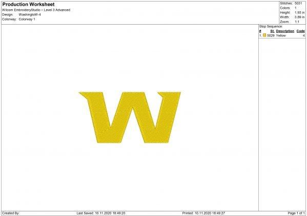 Washington Football Team Embroidery design
