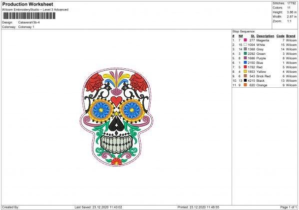 Calavera Embroidery design