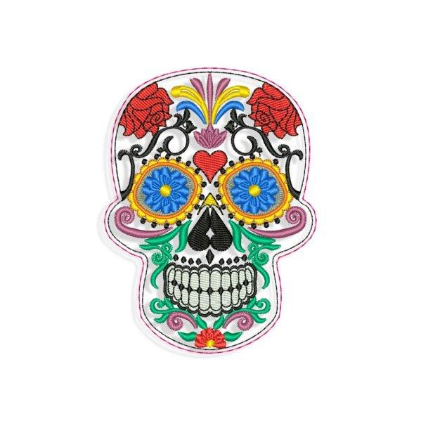 Sugar Skull Calavera Embroidery design