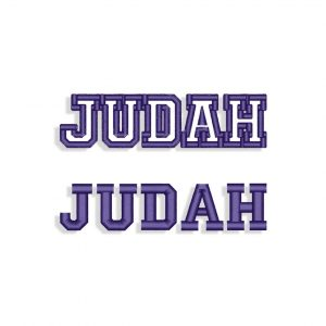 Judah Embroidery design