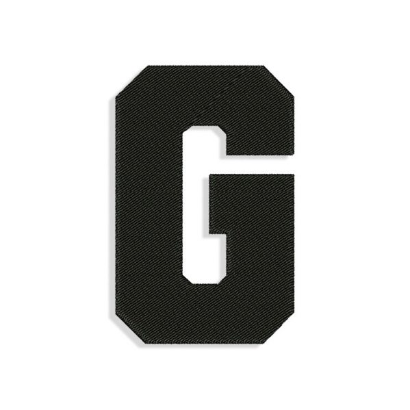 Letter G Embroidery design