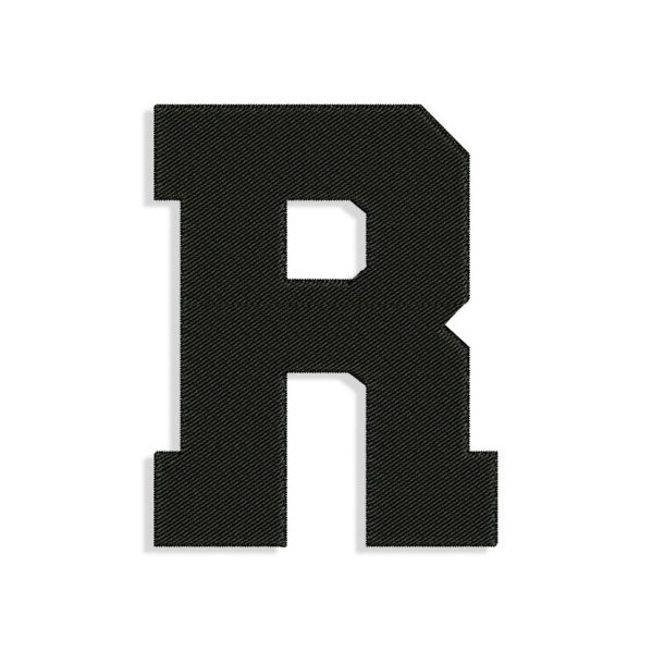 Letter R Embroidery design