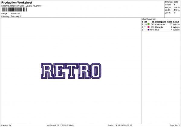Retro Embroidery design and Applique files