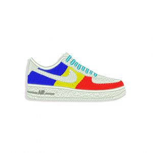 Sneakers Nike Air Embroidery design