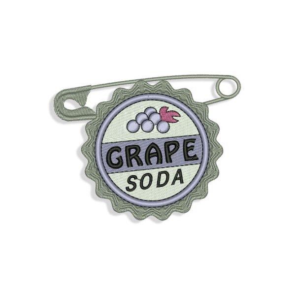 Grape Soda Embroidery design