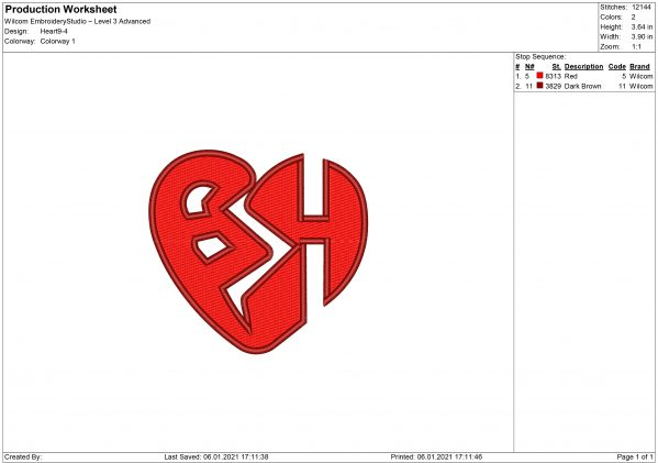 Heart Embroidery design and applique files