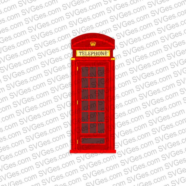 Red Telephone Box SVG files
