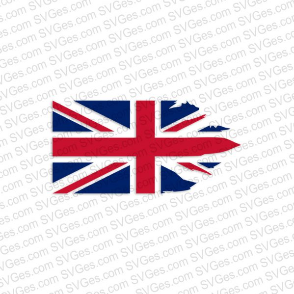 Side Ragged Flag of the United Kingdom SVG files