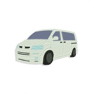 White Vw Van Embroidery design