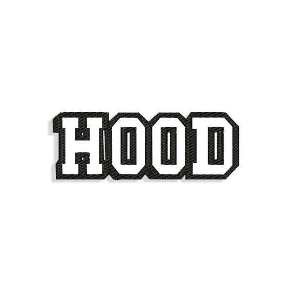 Hood Embroidery design