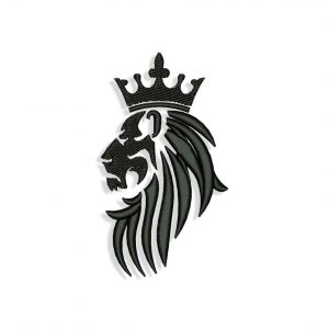 Lion in Crown Embroidery design