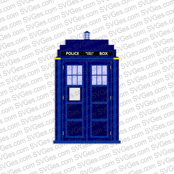 Police Box Doctor Who SVG file