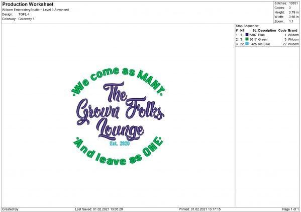 TGFL Embroidery design