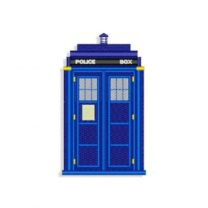 Doctor Who London Police box Embroidery design