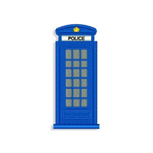 Doctor Who Police box Embroidery design