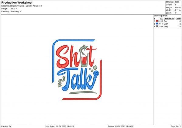 Shot Talk Embroidery design