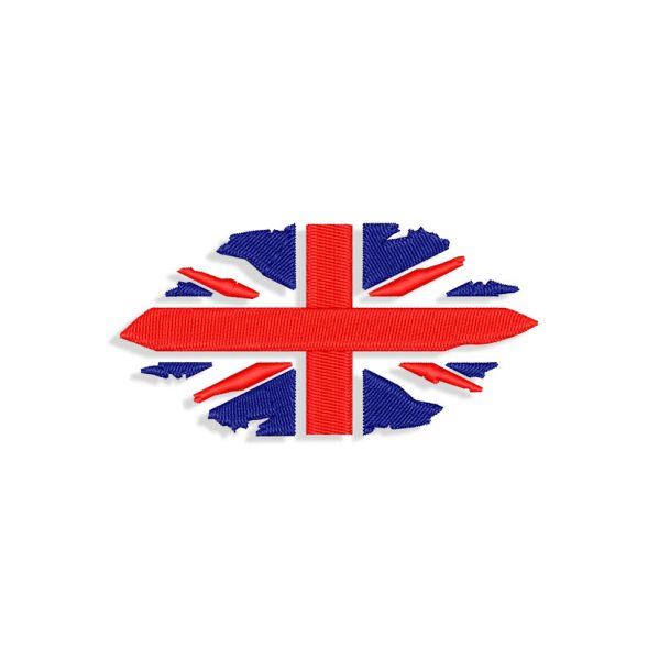 Ragged UK Flag Embroidery design