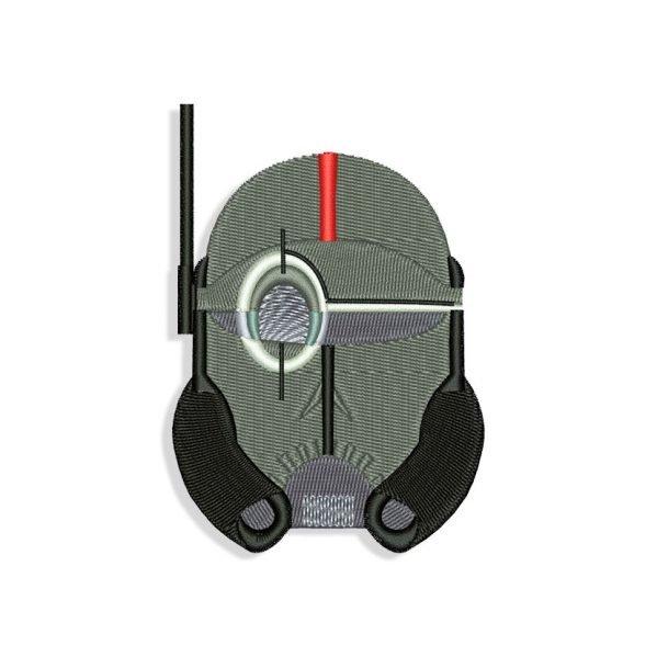 The Bad Batch Crosshair Helmet Embroidery design