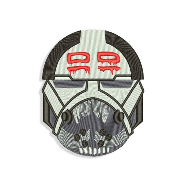 The Bad Batch Wrecker Helmet Embroidery design
