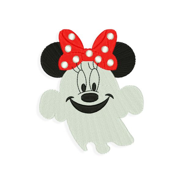Ghost Mouse Halloween Embroidery design