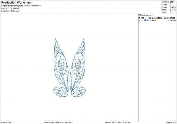 Butterfly Wings Embroidery design