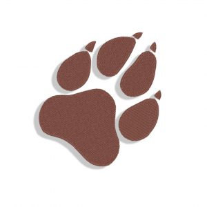 Dog Pawprint Embroidery design